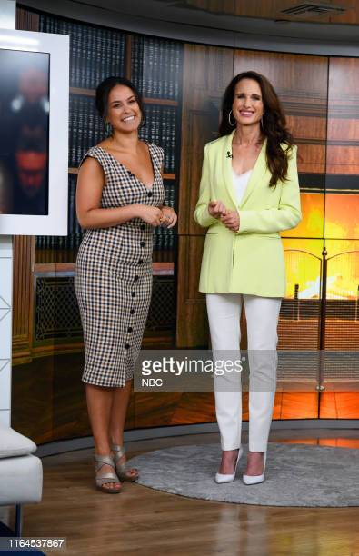Donna Farizan and Andie MacDowell on Thursday August 22 2019