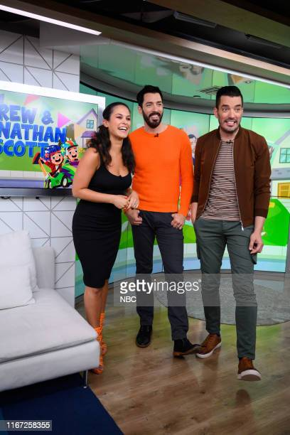 Donna Farizan with Drew and Jonathan Scott on Tuesday September 10 2019