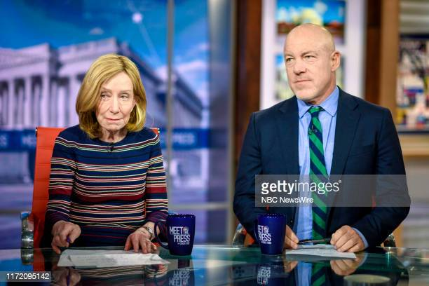 """Pictured: Doris Kearns Goodwin, Presidential Historian, and Mark Leibovich, Chief National Correspondent, The New York Times Magazine appear on """"Meet..."""