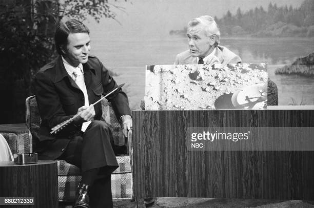 Dr Carl Sagan during an interview with Host Johnny Carson on July 27th 1976