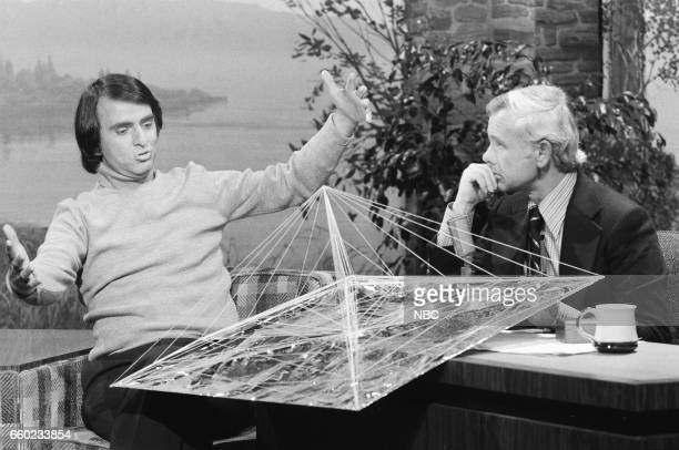 Dr Carl Sagan during an interview with Host Johnny Carson on September 16th 1976
