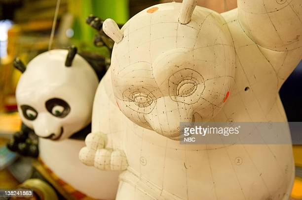 Dreamworks Animation's 'Kung Fu Panda' balloon models Macy's unveils the floats and balloons for the 2010 Thanksgiving Day Parade at their studio in...