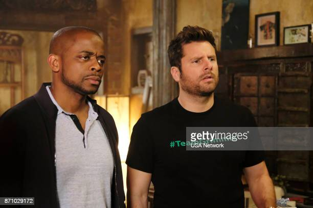 Dule Hill as Burton 'Gus' Guster James Roday as Shawn Spencer