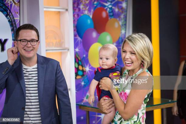 Dylan Dreyer and her son son Calvin and husband Brian Fichera on Wednesday Aug2 2017