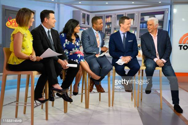 Dylan Dreyer Carson Daly Kristen Welker Craig Melvin Willie Geist and John O'Hurley on Tuesday July 2 2019