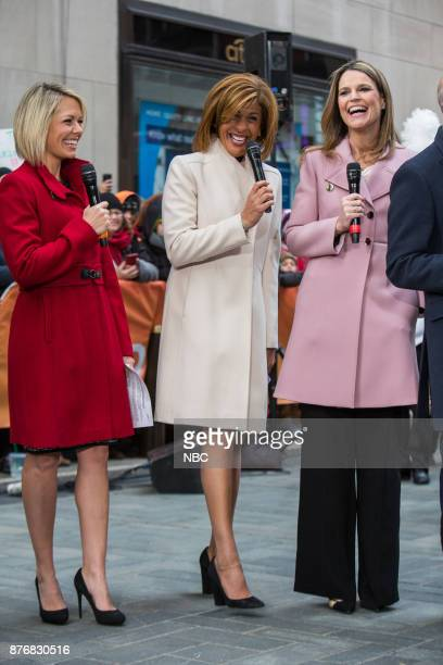 Dylan Dreyer Hoda Kotb and Savannah Guthrie on Monday November 20 2017