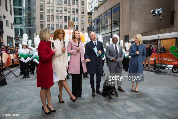 Dylan Dreyer Hoda Kotb Savannah Guthrie Matt Lauer Al Roker and Megyn Kelly on Monday November 20 2017