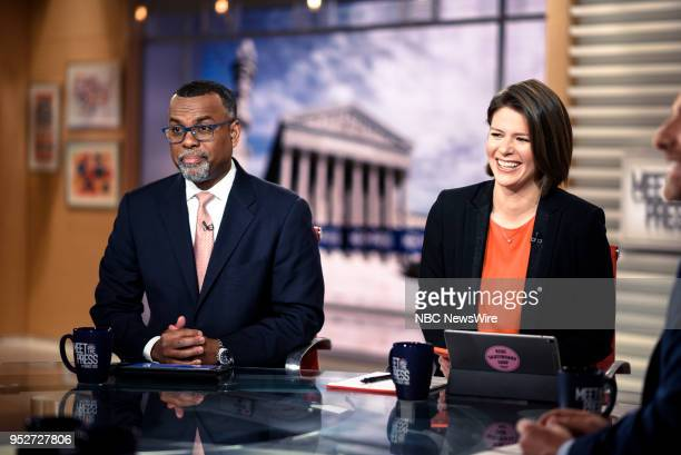 Eddie Glaude Chair Center for AfricanAmerican Studies and Kasie Hunt NBC News Capitol Hill Correspondent appear on Meet the Press in Washington DC...