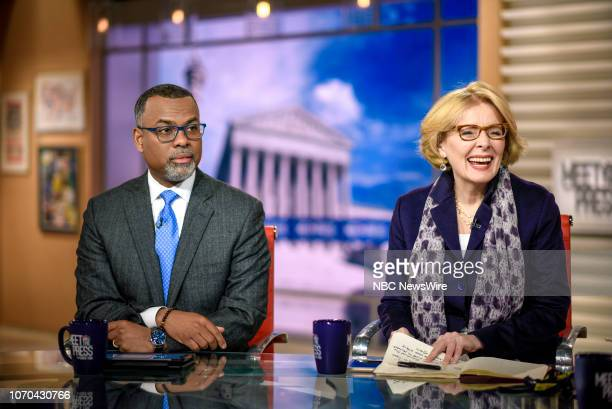 Eddie Glaude Jr Chair Center for AfricanAmerican Studies and Peggy Noonan Columnist The Wall Street Journal appear on Meet the Press in Washington DC...