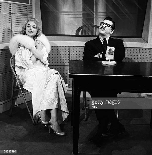Edie Adams host Ernie Kovacs as Mr Question Man