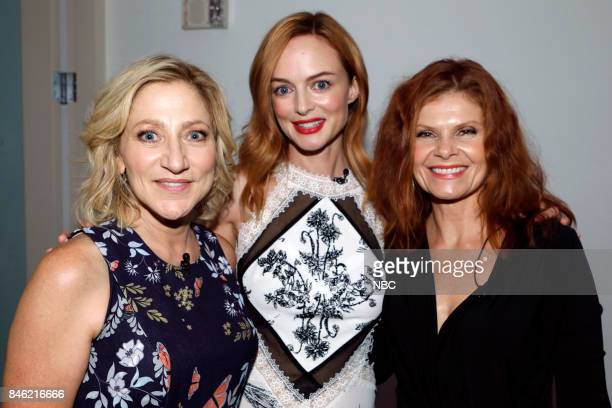 Edie Falco Heather Graham Lolita Davidovich at PaleyFest with the cast and producers of Law Order True Crime The Menendez Murders at the Paley Center...