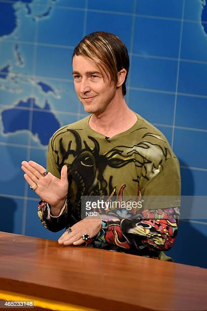 Edward Norton as Stefon during Weekend Update on February 15 2015