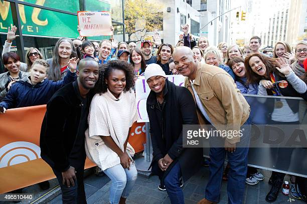 Elijah Kelley Shanice Williams NeYo and David Alan Grier appear on the Today show on Tuesday November 3 2015
