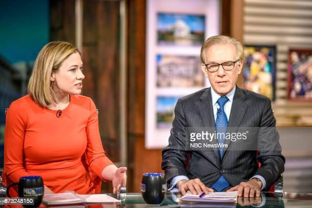Elise Jordan Political Analyst MSNBC Contributor TIME and David Ignatius Columnist The Washington Post appear on Meet the Press in Washington DC...