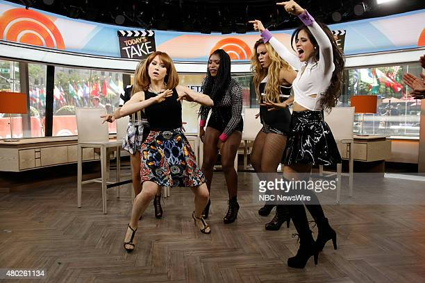 """Ellie Kemper gets dance lessons from musical guest Fifth Harmony on NBC News' """"Today"""" show --"""