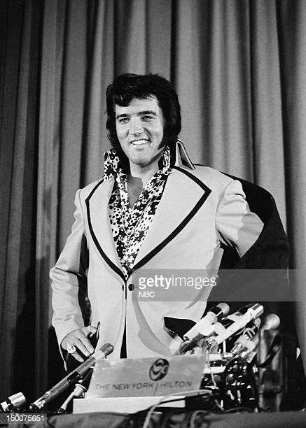 Elvis Presley during a press conference at the New York Hilton in New York NY on June 9 1972