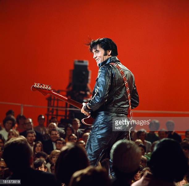 Pictured: Elvis Presley during his '68 Comeback Special on NBC --