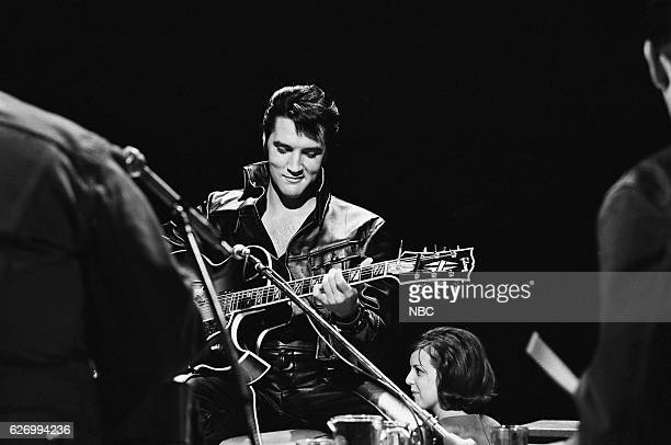 '68 COMEBACK SPECIAL Pictured Elvis Presley during his '68 Comeback Special on NBC