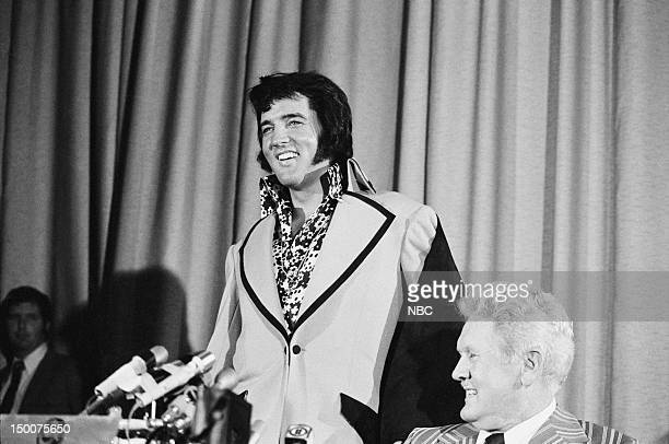 Elvis Presley father Vernon Presley during a press conference at the New York Hilton in New York NY on June 9 1972