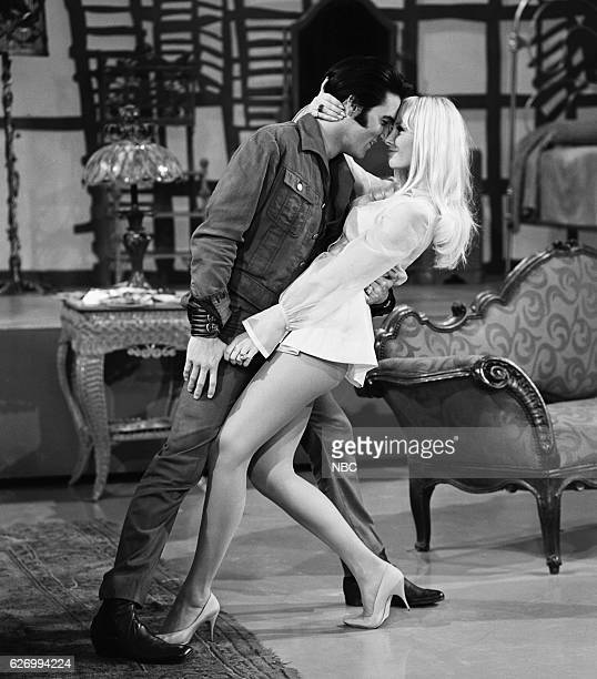'68 COMEBACK SPECIAL Pictured Elvis Presley Susan Henning as Blonde Girl during his '68 Comeback Special on NBC