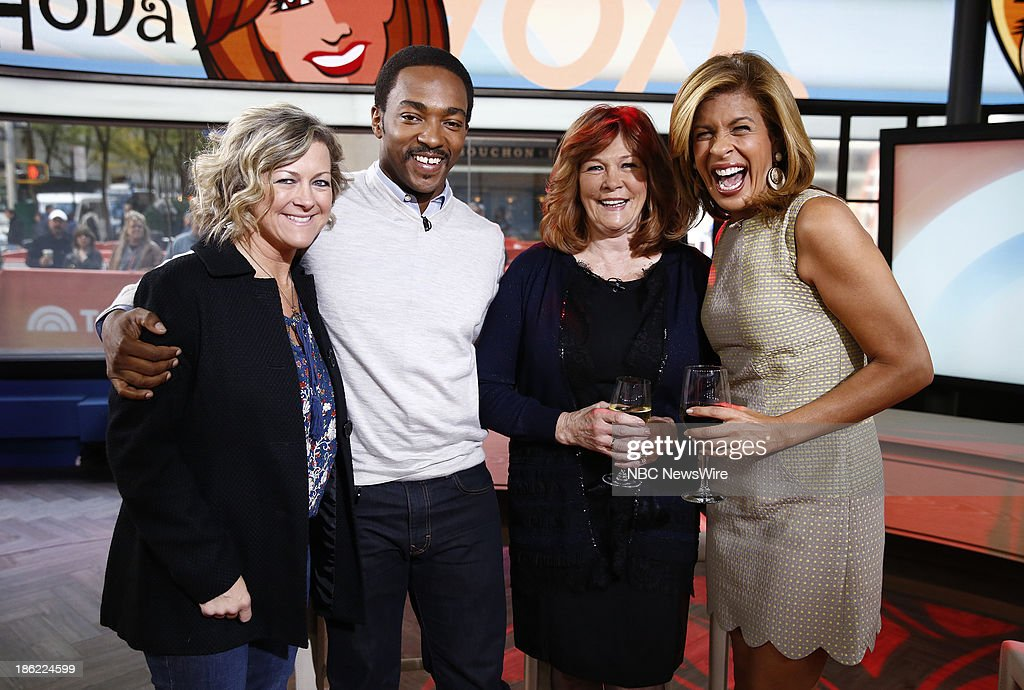 Endy Intrieri, Anthony Mackie, Dorothy Shackleford and Hoda Kotb appear on NBC News' 'Today' show --
