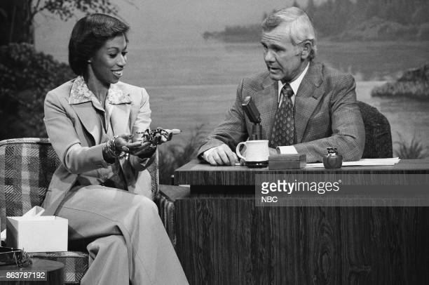 Entertainer Altovise Davis during an interview with host Johnny Carson on June 10 1977