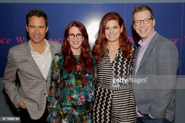 WILL GRACE 'FYC @ UCB' Pictured Eric McCormack Megan Mullally Debra Messing Sean Hayes at UCB Sunset Theatre on June 9 2018