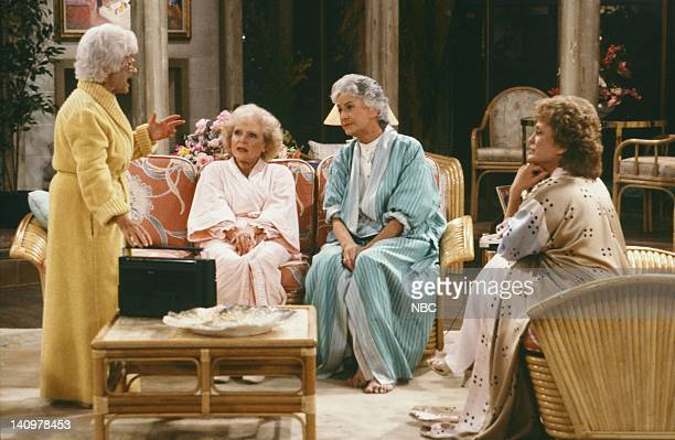 Pictured: Estelle Getty as Sophia Petrillo, Bea Arthur as Dorothy Petrillo-Zbornak, Betty White as Rose Nylund, Rue McClanahan as Blanche Devereaux,...