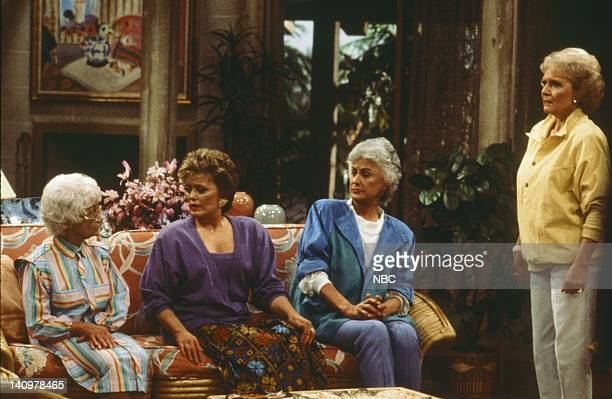 Pictured: Estelle Getty as Sophia Petrillo, Rue McClanahan as Blanche Devereaux, Bea Arthur as Dorothy Petrillo-Zbornak, Betty White as Rose Nylund,...