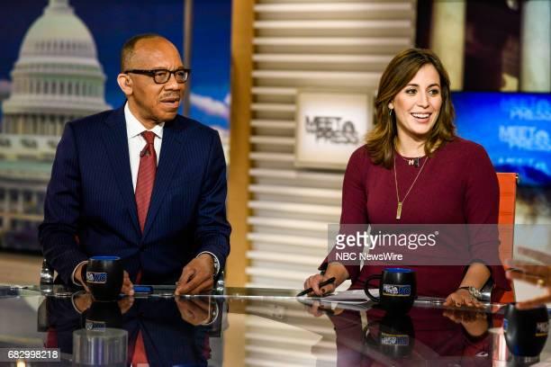 Eugene Robinson Columnist The Washington Post and Hallie Jackson NBC News Chief White House Correspondent appear on Meet the Press in Washington DC...