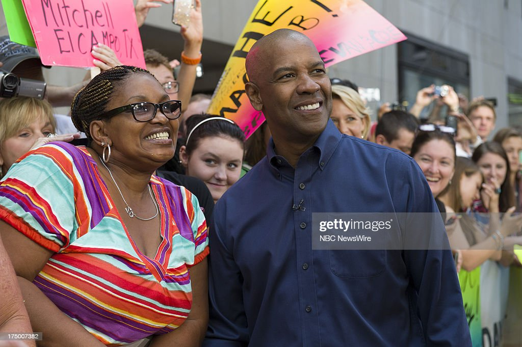 Fan, Denzel Washington appears on NBC News' Today show on July 29, 2013 --