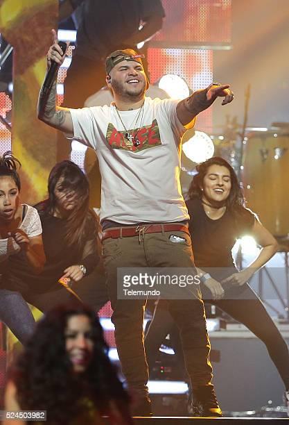 Farruko rehearses for the 2016 Billboard Latin Music Awards at the BankUnited Center in Miami Florida on April 25 2016