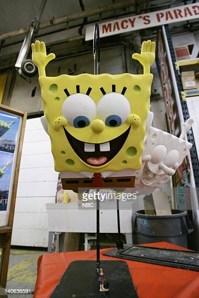 S 78TH THANKSGIVING DAY PARADE Pictured Final painted model and white pattern model for Nickelodeon's SpongeBob SquarePants balloon on Preview Day at...
