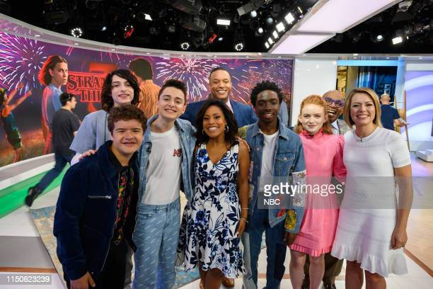 Finn Wolfhard Gaten Matarazzo Noah Schnapp Sheinelle Jones Craig Melvin Caleb McLaughlin Sadie Sink Al Roke and Savannah Guthrie on Friday June 14...