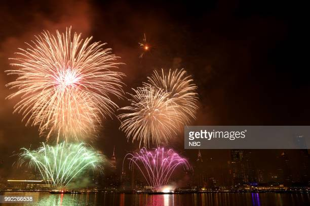 S FOURTH OF JULY FIREWORKS SPECTACULAR Pictured Fireworks at the 2018 Macy's Fourth of July Fireworks Spectacular in New York City