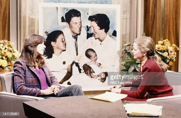 First daughter Patti Davis NBC News' Jane Pauley in December 1980 Photo by NBC/NBC NewsWire