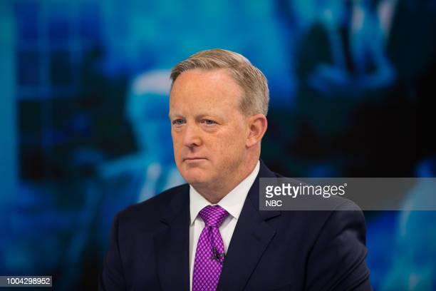 White House Press Secretary Sean Spicer on Thursday, July 19, 2018 --