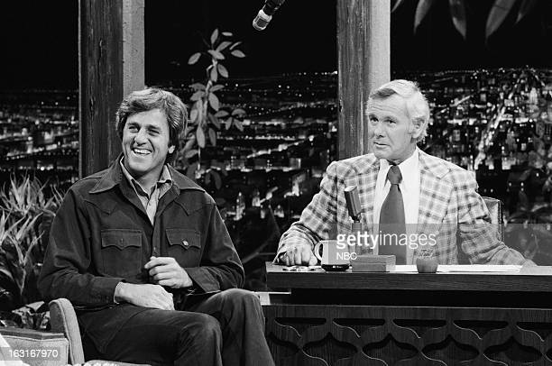 Football player/actor Don Meredith host Johnny Carson on March 13 1975