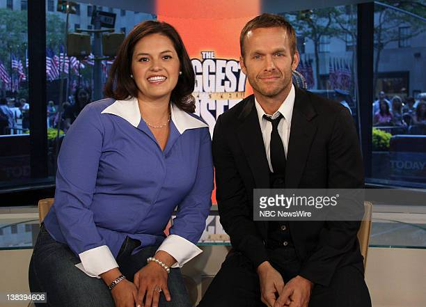 Former contestant from The Biggest Loser Patty Gonzales and trainer Bob Harper on NBC News' Today on October 9 2007