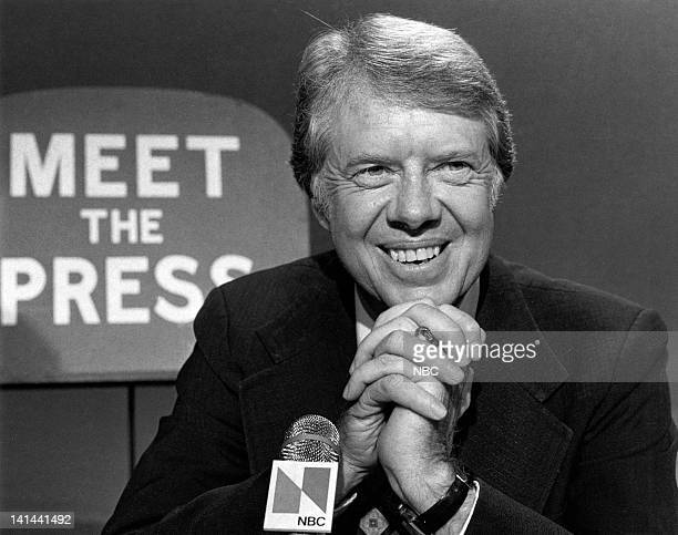 Former state senator and governor of Georgia Jimmy Carter during his presidential campaign on January 11 1976
