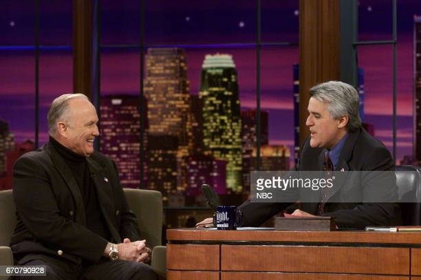 Former US Army General Norman Schwarzkoff during an interview with Host Jay Leno on December 6th 2001