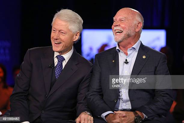 Former US President Bill Clinton and J Craig Venter CoFounder CEO and Chairman Human Logevity Inc at the Clinton Global Initiative Annual Meeting in...