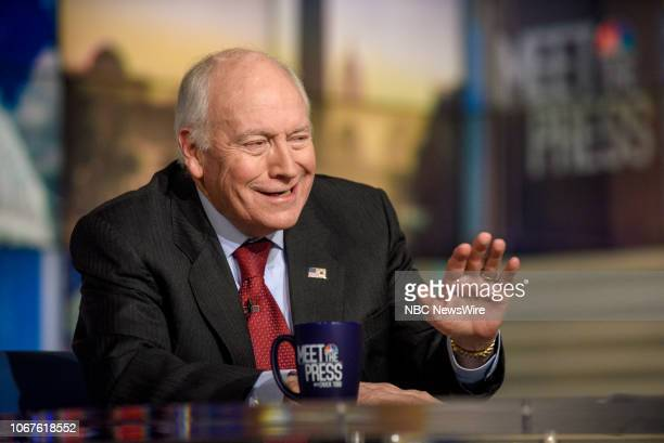 Former Vice President Dick Cheney appears on Meet the Press in Washington DC Sunday Dec 2 2018
