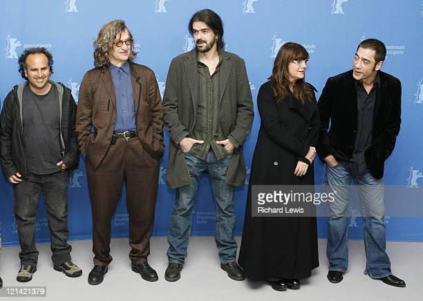 Pictured from left Directors Javier Corcuera Wim Wenders Fernando Leon de Aranoa Isabel Coixet and Producer Javier Bardem