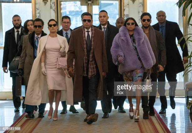 Pictured Front row LR Guest star Andre Royo Grace Byers Terrence Howard Trai Byers Taraji P Henson and Jussie Smollett in the Absent Child episode of...