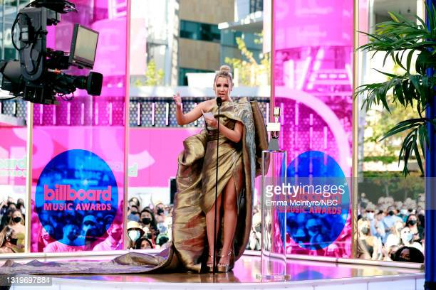 Pictured: Gabby Barrett accepts Top Country Female Artist onstage during the 2021 Billboard Music Awards held at the Microsoft Theater on May 23,...