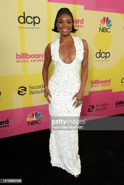 Pictured: Gabrielle Union arrives to the 2021 Billboard Music Awards held at the Microsoft Theater on May 23, 2021 in Los Angeles, California. --