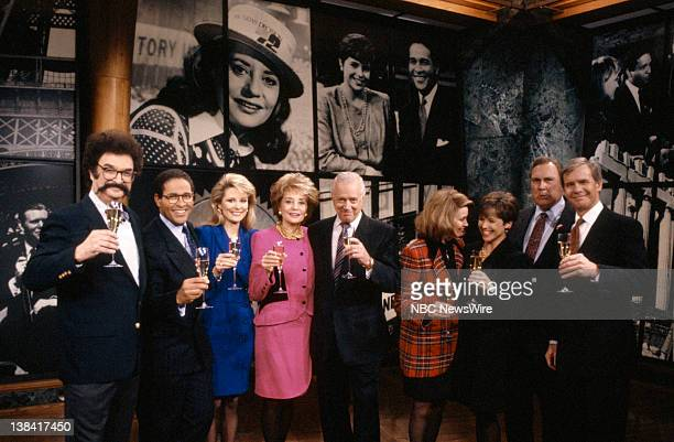 Gene Shalit Bryant Gumbel Deborah Norville Barbara Walters Hugh Downs Jane Pauley Katie Couric Willard Scott Tom Brokaw celebrating the 40th...