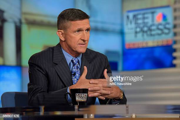 General Michael Flynn appears on Meet the Press in Washington DC Sunday August 7 2016