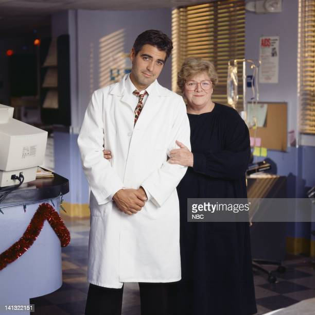 George Clooney as Doctor Doug Ross Joanna Lipari as mom Photo by NBCU Photo Bank